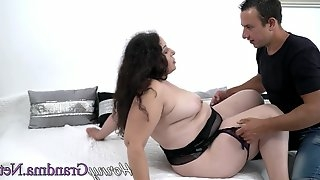 Fat assed granny blows mature
