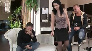 Enchanting euro babe has steamy anal fuck fest
