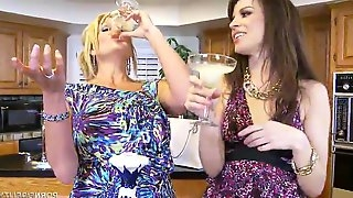 Drunk MILF Are Ready For Threesome Orgy