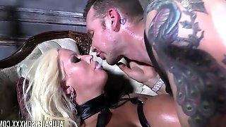 He makes his slave Alura Jenson swallow his warm sperm