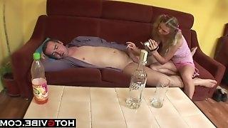 Daughter Takes Advantage Of Drunk Dad - 18yo