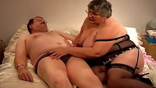 Old fat whore having fun with old friend collin