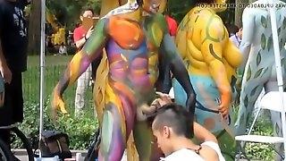 Cfnm dick body painting