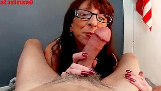 Mummy blow-job CIM Keep deepthroating Compilation
