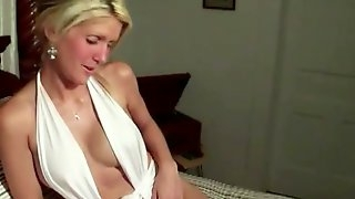Mom in white stockings loves getting penetrated