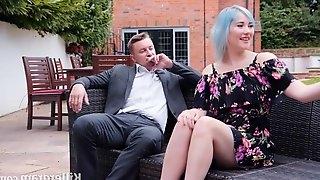 Misha Mayfair is sucking her married lovers dick and getting doublefucked in her huge garden
