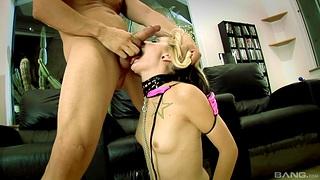 Closeup video of kinky slave girl Faye Runaway geting fucked by Jenny